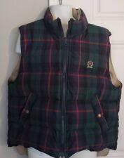 Tommy Hilfiger Reversible Down Vest Men's Large, Kahki & Plaid