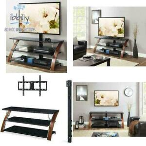 """Whalen Payton Brown Cherry 3-in-1 Flat Panel TV Stand for TVs up to 65"""""""