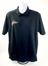Nike Mens Golf Large Black Polo Tour Performance Dri Fit Athletic