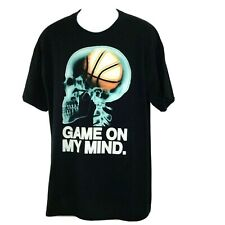 Basketball Game On My Mind Mens DryBlend Black T-Shirt Size XL