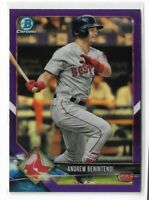 2018 Bowman Chrome veterans purple refractor parallel #53 Andrew Benintendi /250