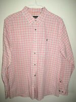 ORVIS L/S Plaid Shirt- Size Large Button Collar 60% Cotton 35% Nylon 5% Spandex
