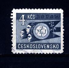 CZECHOSLOVAKIA - CECOSLOVACCHIA - 1947 - 1° Festival Mondiale della Gioventù e d