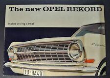 1963 Opel Rekord Sedan Catalog Sales Brochure Excellent Original 63