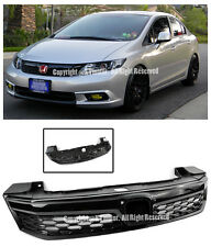 For 12 Honda Civic Sedan FB6 SI Style Mesh Black Front Bumper Conversion Grille
