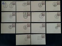 1983 Poland lot of 14 Jan Kochanowski Covers with various cachets