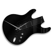 Acrylglas Wanduhr Gitarre schwarz