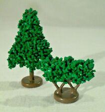 2 alte LEGO BÄUME aus PLASTIK KÖRNCHEN Paar Pflanzen vintage 6,5cm