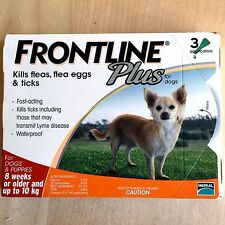 Frontline Plus 3 Pack For Dogs 0-22 lbs (0-10KG) Fast Shipping from USA Orange