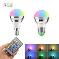 E27 E14 5W 7W 16 Multi Color Magic Lamp RGB LED Light Bulb + Wireless Remote