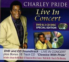 "CHARLEY PRIDE New DVD & CD ""LIVE IN CONCERT"" 16 track R4 DVD - 2 x 16 track CDs"