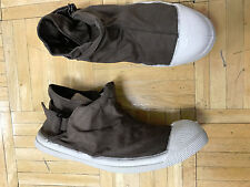 Bensimon Canvas Mid-Top Tennis  Shoes Brown Sz 6 U.s. euro 37