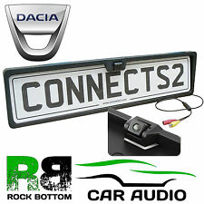 DACIA Rear View Reversing Parking Colour Camera & Car Number Plate Frame