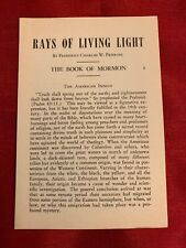 RAYS OF LIVING LIGHT: THE BOOK OF MORMON #8 in a series Mormon LDS Pamphlet