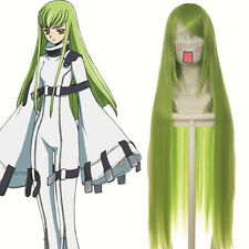 "New 40"" (100cm)  Light Green straight CODE GEASS C. C. Cosplay Wig"