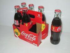 2014 COCA COLA FIFA WORLD CUP SOCCER BRAZIL 8 OUNCE GLASS COKE BOTTLE 6 PACK