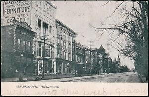 HAZLETON PA West Broad Street Antique Town View White Palace Furniture Postcard