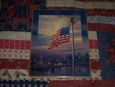 "Thomas Kinkade ""The Light Of Liberty"" Clock & Wall Plaque The Bradford Exchange"