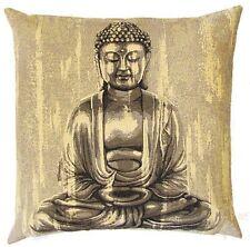 "NEW 18"" BUDDHA PRAYING TAPESTRY CUSHION COVER 4986, BEAUTIFUL QUALITY GIFT IDEA"