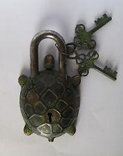 Antique Look Door Pad Lock Tortoise Figurine
