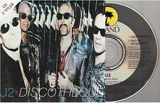 U2 discotheque CD SINGLE france french card sleeve