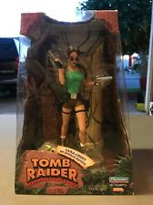 """RARE Playmates 1999 Tomb Raider 8"""" Action Figure Lara Croft in Jungle Outfit NEW"""
