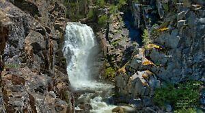 Hazard Creek Falls #3 McCall Idaho Waterfall Landscape Photo Poster Print