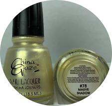 China Glaze Nail Polish Mauve Shadow #078 Shimmer Pearl Discontinued Lacquer