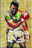 Alec Monopoly Brainwash Print on Canvas Graffiti art decor Muhammad Ali 28x40""