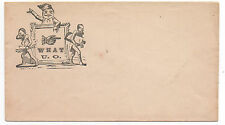 "1860s Cilvil War Patriotic Cover "" What U.O. "" with Jack in Box"