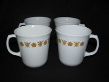 Corelle Gold Butterfly Set of 4 Coffee Cups