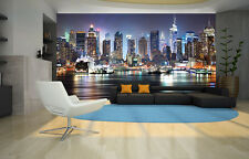 Wall Mural Phot Wallpaper NEW YORK MANHATTAN SKYLINE Living Room Decor 335x236cm