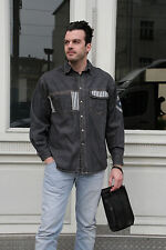 Men's Company Jeanshemd Herren Hemd 90er True VINTAGE 90´s men jeans shirt black