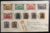 1920 Allenstein Olsztyn Cover to Hanover Germany Plebiscite Vote Stamp Sc#1-4