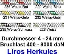 Tauwerk LIROS Herkules Schot Fall Strecker NEU 4 - 24 mm div. Farben Meterware