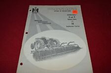 International Harvester 3 & 4 Rotary Hoes 18 Implement Operator's Manual AMIL7