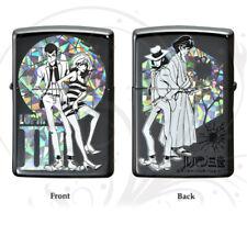ZIPPO Oil Lighter Lupin The 3rd Black Brass Fujiko Jigen Goemon Anime Japan F/S