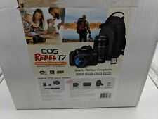 New Canon EOS Rebel T7 DSLR Camera 2 Lens Bundle - OP0477