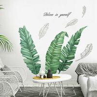 Large Tropical Banana Leave Wall Stickers Kids Nursery Decor Flowers Art Decal