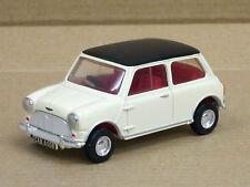 Mini Cooper S in creme mit schwarzem Dach, ohne OVP, Dinky / Matchbox, 1:43
