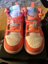 Jordan Retro 1 Mid Toddler  Pre-owned Crimson Pulse Light Aqua Nike