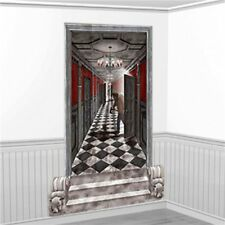 Halloween Party Scene Setter Long Gothic Hallway Wall Decoration kit