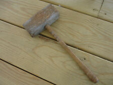 Old Vtg Antique Primitive Wooden Wood Hammer Mallet