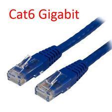 3 Ft Cat6 RJ45 24AWG 550Mhz Gigabit LAN Ethernet Network Patch Cable - Blue