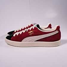 Size 9 Men's Puma Clyde From The Archive Sneakers 365319-04 Black/Cordovan