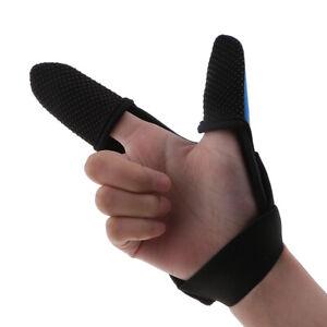 High Elasticity Casting Finger Guard Thumb Index Finger Fishing Glove - Blue