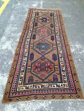 Antique Persian Serapi Hand Woven Runner Rug