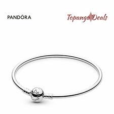 "Authentic Pandora Sterling Silver Bangle Bracelet Size 8.3"" (21 cm) 590713 -21"