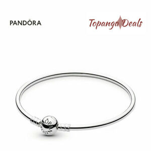 "Authentic Pandora Sterling Silver Bangle Bracelet Size 7.5"" (19cm) 590713-19"