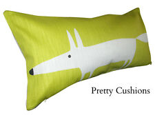 Scion Mr Fox Kiwi Green Lohko Bolster Cushion Cover